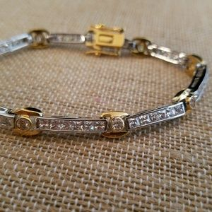 LIA SOPHIA - two-tone, Channel & bezel set stones